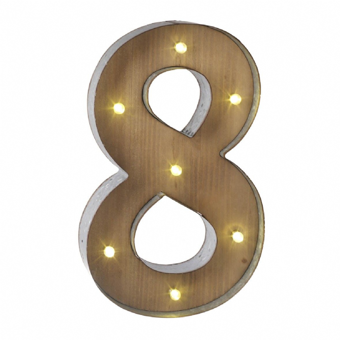Reduced Wooden Amp Metal Carnival Style Led Light Up Numbers